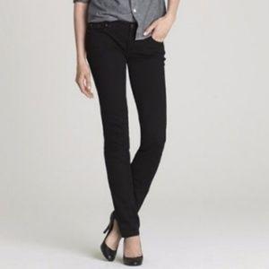 J. Crew Black Matchstick Straight Leg Jeans
